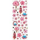 Sakura Geisha Stickerbogen transparent