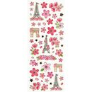 Sakura Paris Stickerbogen transparent