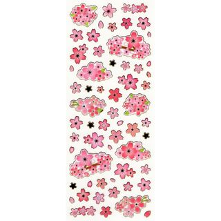 Sakura Boquet Stickerbogen transparent