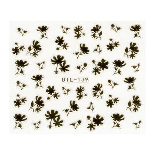 Blumen Stickerbogen gold DTL-139
