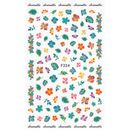 coloured tropical flower sticker sheet F224