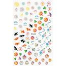 coloured asian themed sticker sheet F242