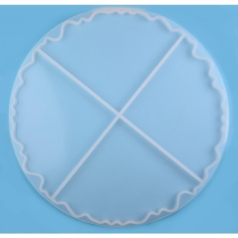 transparenten Glitzer-Ecken W/ürfelbecher aus schwarzem PU-Leder mit Pl/üschsamt ausgekleidet Set mit 16 mm gro/ßen in Geschenkbox blauer Glitzer, grauer Futter